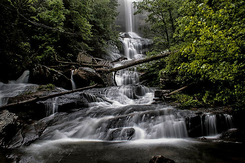 5x7 photographs waterfalls, sunrise and old buildings