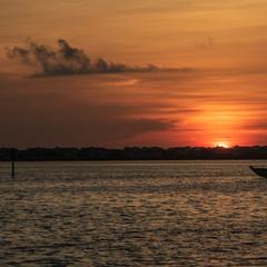 Sunrise Anna Maria Island with boat