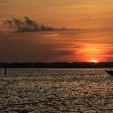 Sunrise Anna Maria Island with boat