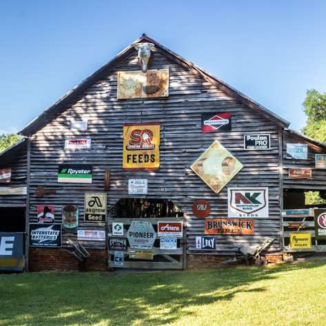 Back view of sign barn