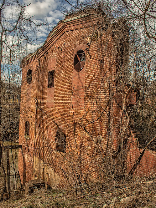 Piedmont Mill and Dam 8x10 photographs matted to 11x14