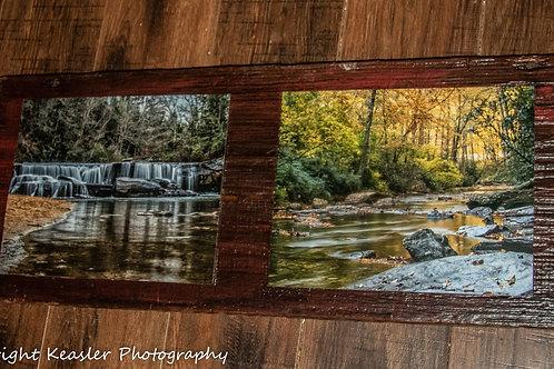 Photographs on barnwood