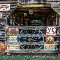 Up close view of Sign barn