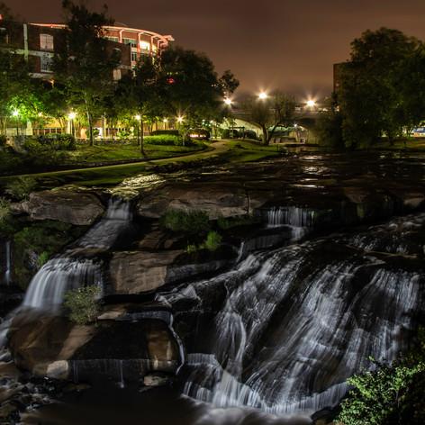 Reedy Falls at night