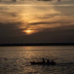 Sunrise Anna Maria Island fisherman