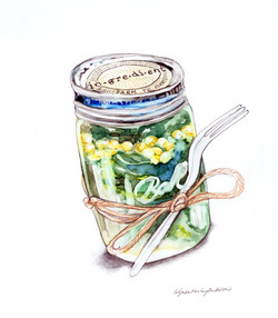 Salmon and Spinach Salad Jar Only
