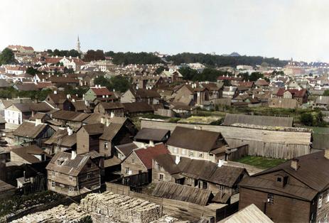 Vaade linnale Tartu sünagoogi katuselt Toomemäe suunas