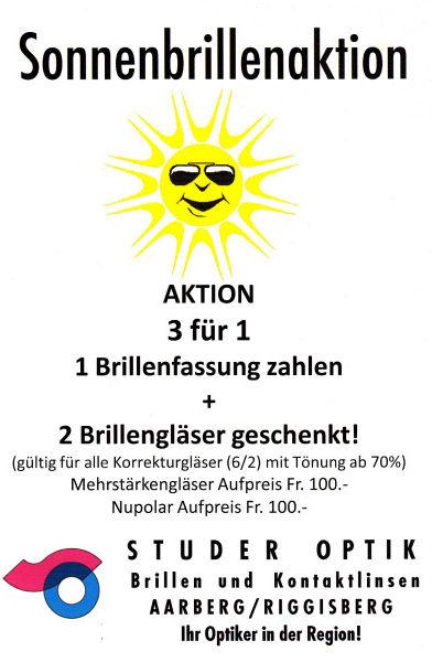 Sonnenbrillen Aktion Sommer 2018