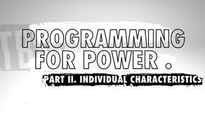 Programming For Power | Part II. Individual Characteristics