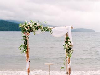 Stormy June Wedding on Priest Lake