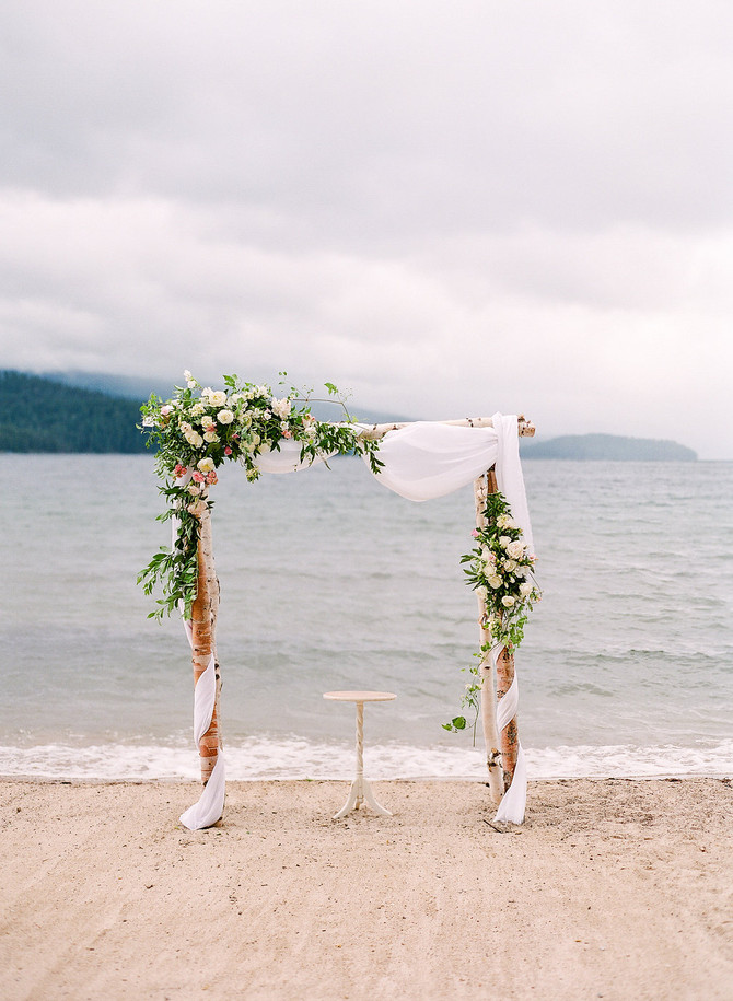 Stormy June Wedding on Priest Lake