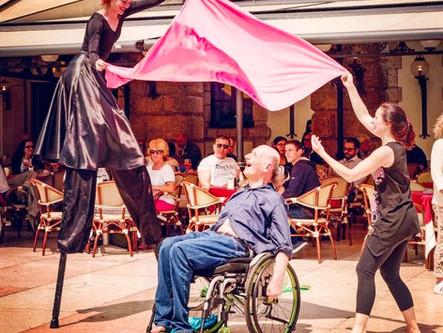 The Dancing Italian in A Wheelchair
