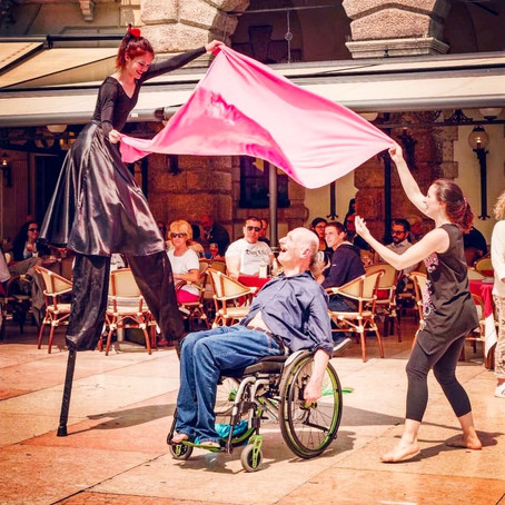The Dancing Italian in A Wheelchair