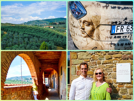 Our Adventure in Vinci, Tuscany...