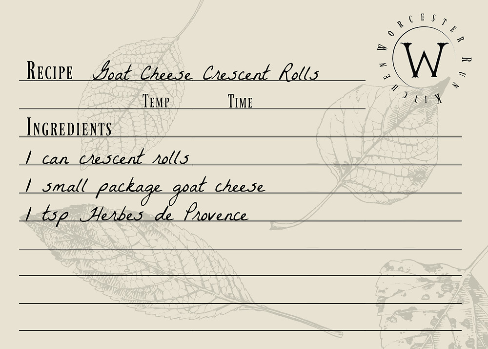 Goat Cheese Pillsbury Crescent Rolls Recipe Card