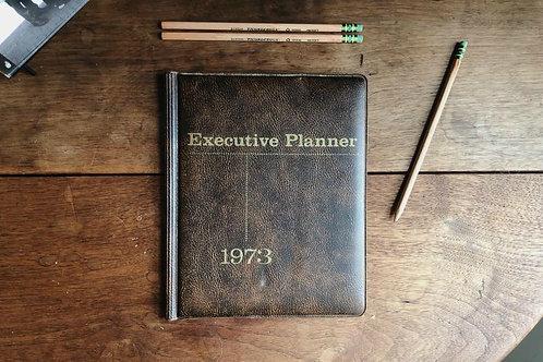 Vintage 1970's planner. Office supplies.