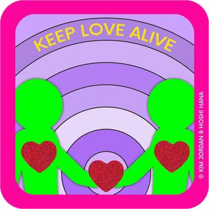 STICKER: KEEP LOVE ALIVE