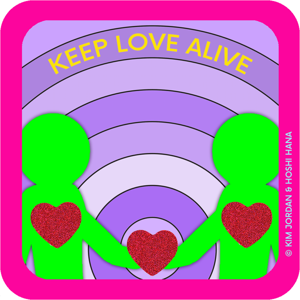 STICKER: KEEP LOVE ALIVE