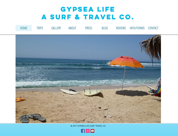 WEBSITE: GYPSEA LIFE SURF & TRAVEL COMPANY
