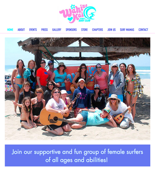 WEBSITE: WAHINE KAI WOMEN'S SURF CLUB