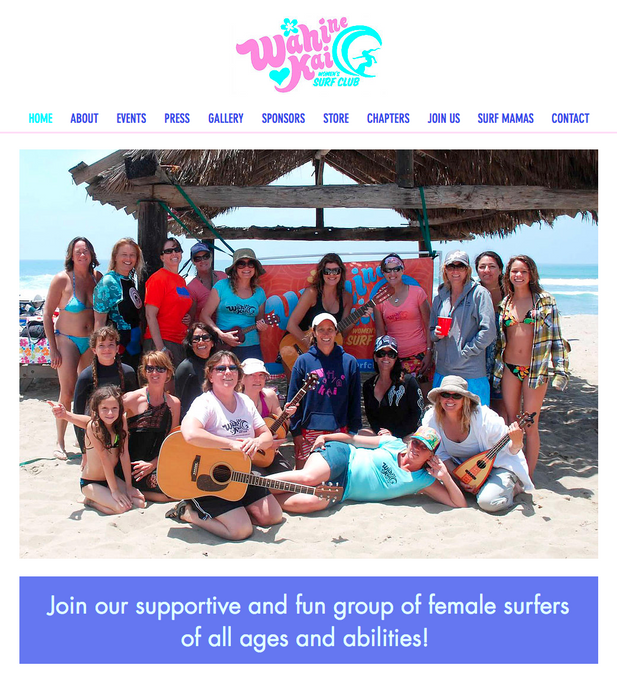 WEBSITE: WAHINE KAI WOMEN'S SURF CLUB