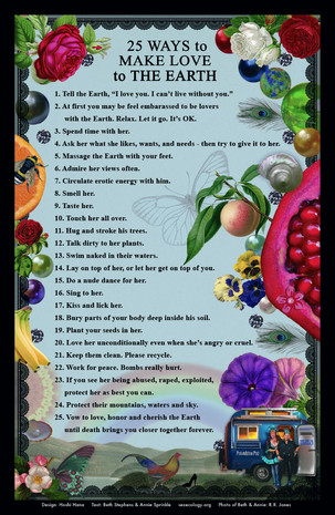25 WAYS TO MAKE LOVE TO THE EARTH