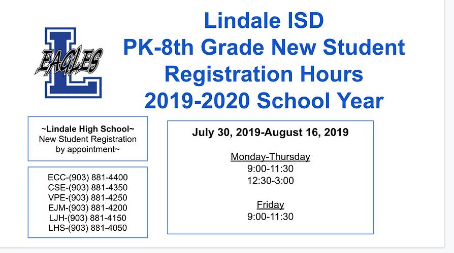 Lisd Calendar 2020.Parents And Students Lindale Schools Lindale Independent School