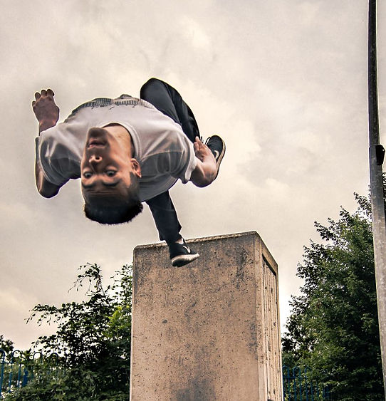 Wall Flip Parkour Free Running