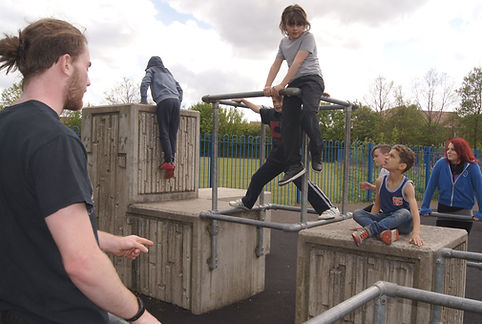 Coaching chilren parkour