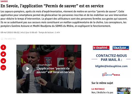 En Savoie, l'application Permis de Sauver est en service