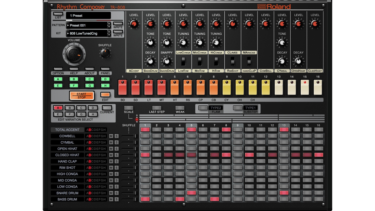 Roland (Cloud and everything in it...808 pictured)