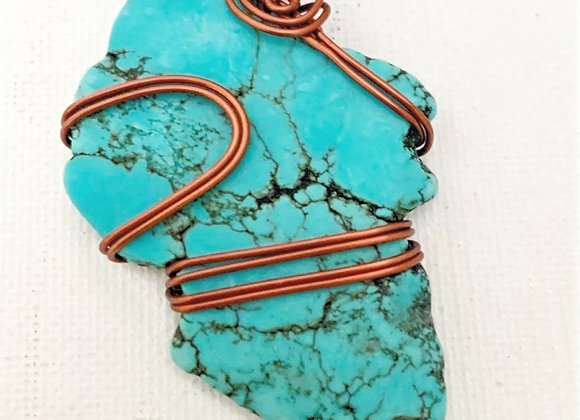 Wire Wrapped Turquoise Stone
