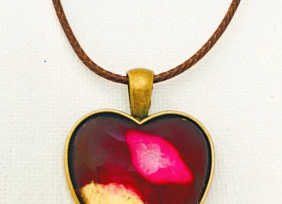 1 Inch Heart Glass Cabochon