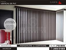 persianas verticales de pvc gabin