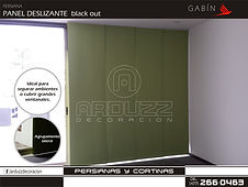 persiana panel deslizante black out gabin