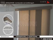 persianas panel deslizante traslucido gabin