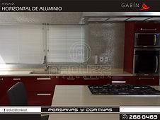 persianas horizontales de aluminio gabin