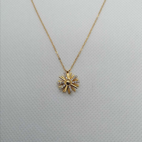 Rotate Pendant with Gold Chain