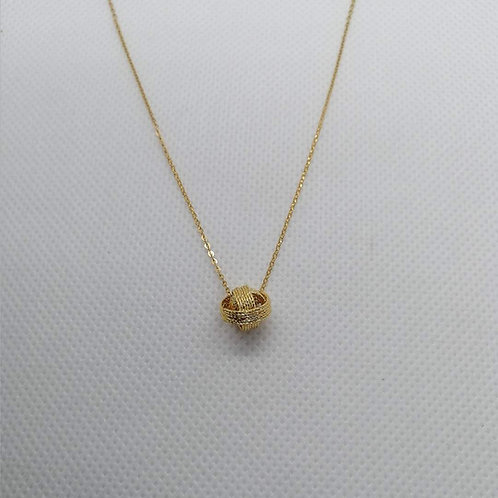 Round Pendant With Gold Chain