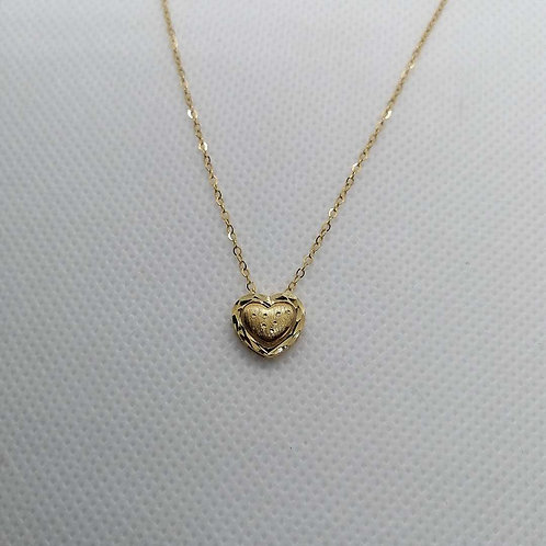 Heart Pendent with Gold Chain