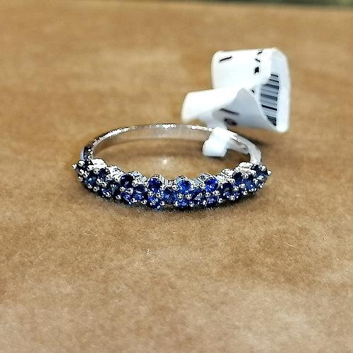 Blue Sapphire Whitegold Ring