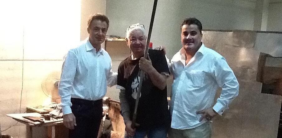 Amedee Santalo with Jean Alesi and Novaro