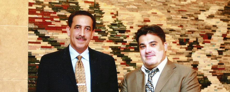 Amedee Santalo with Prince Sheikh Tariq Al Qassimi