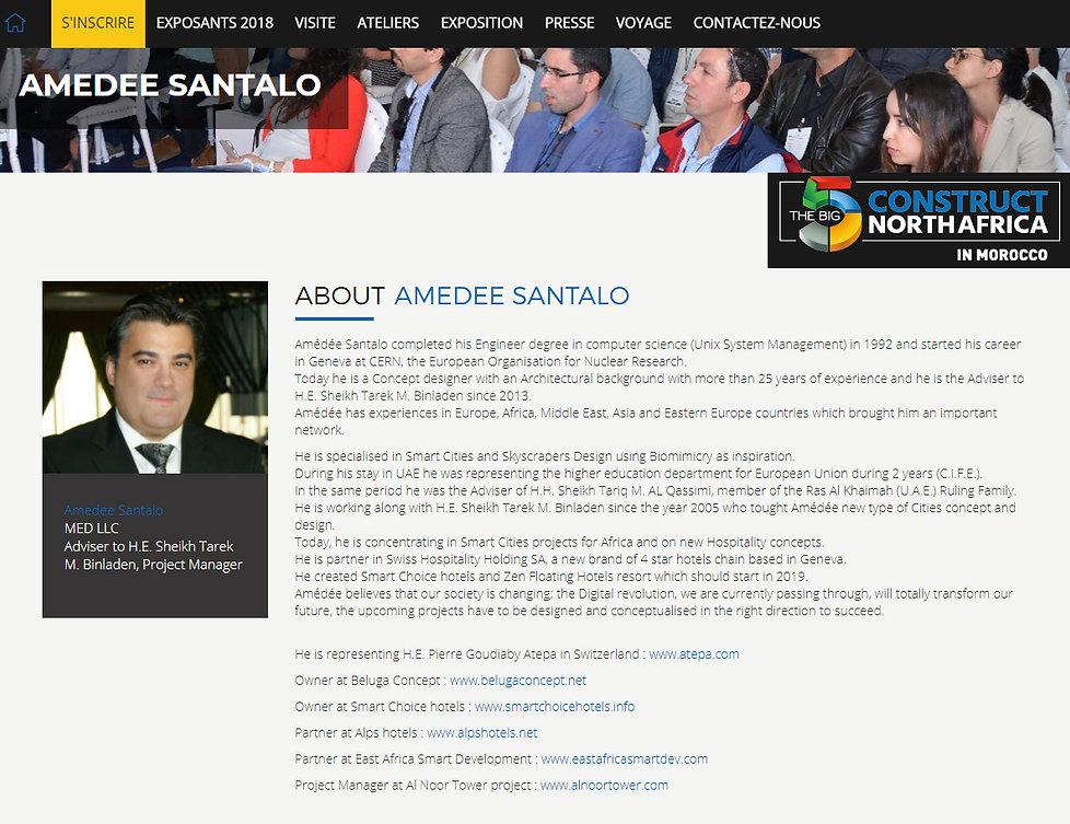 Amedee Santalo VIP Speaker