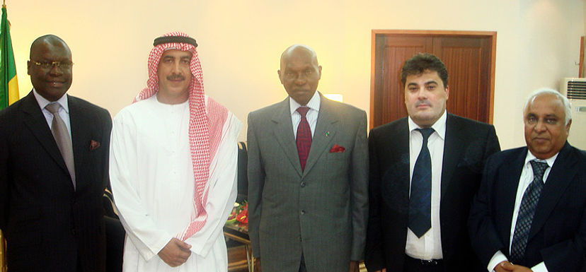 Amedee Santalo, President of Senegal, Prince of Emirates, Pierre G. Atepa, M. RAM from India