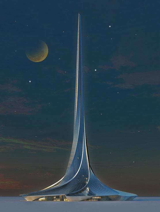 Vortex Tower elevation night.jpg