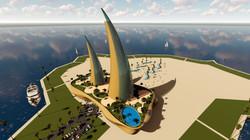 Horn Towers by Amedee Santalo