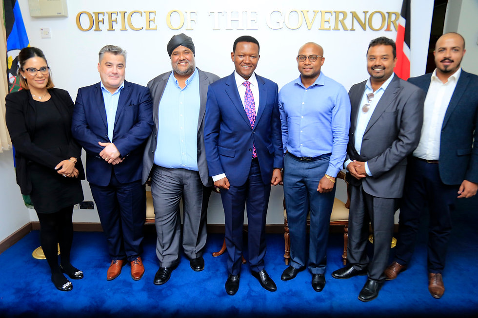 Amedee Santalo tour in Kenya at Governor Office
