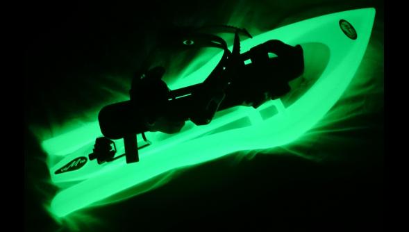 Photoluminescent Snowshoes