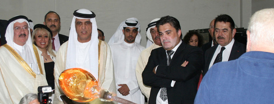 Amedee Santalo with the King Sheikh Saud Al Qassimi UAE